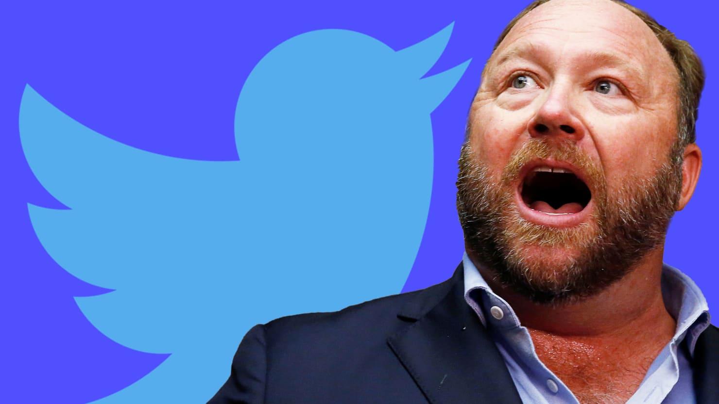 After long delay, Twitter bans Alex Jones @realalexjones and @infowars.